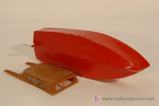 Juguetes antiguos y Juegos de colección: Lancha en madera - Foto 2 - 14907626