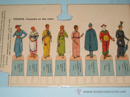 Juguetes antiguos y Juegos de colección: COMEDIA VIOLETA, TEATRO DE LOS NIÑOS, EDICIONES SEIX&BARRAL HERMANOS. - Foto 4 - 25775678