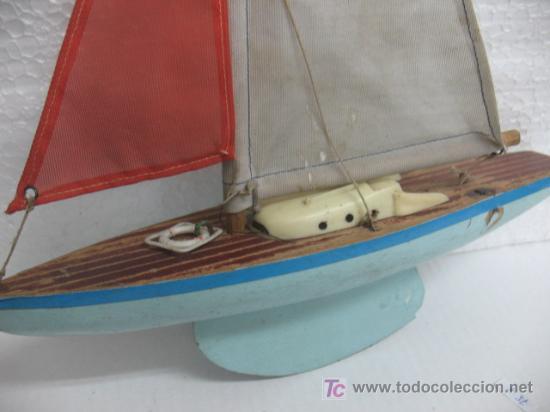 Juguetes antiguos y Juegos de colección: BARCO EN MADERA CON VELA - Foto 3 - 17336599