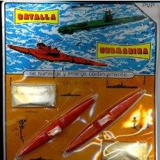 Juguetes antiguos y Juegos de colección: BLISTER ORIGINAL BATALLA SUBMARINA - CARNEADO JUGUETES AÑOS 70 - REF. 196. Lote 26606519