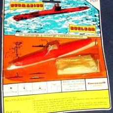 Juguetes antiguos y Juegos de colección: BLISTER ORIGINAL SUBMARINO NUCLEAR - CARNEADO JUGUETES AÑOS 70 - REF. 195. Lote 27236070