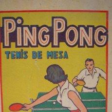 Juguetes antiguos y Juegos de colección: PING PONG TENIS DE MESA JUGUETES VIAM. PIN PON. Lote 19017052