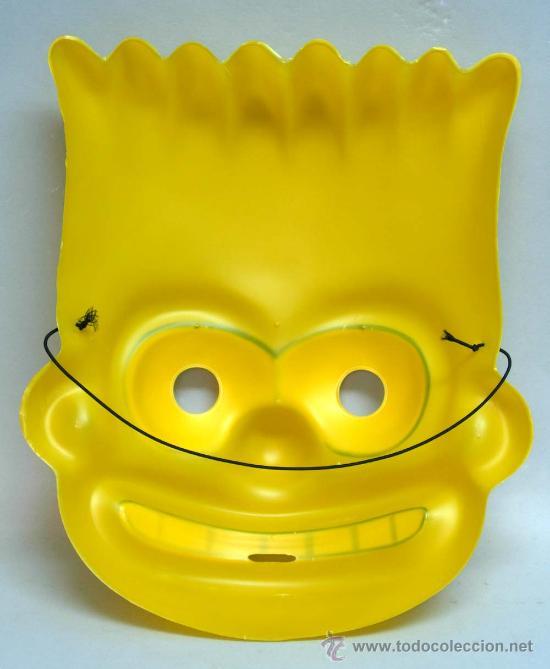Juguetes antiguos y Juegos de colección: Careta Máscara Burt Simpson disfraz - Foto 2 - 19823200