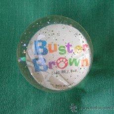 Juguetes antiguos y Juegos de colección: **PELOTA DE GOMA TRANSPARENTE CON PUBLICIDAD DE ZAPATOS,----BUSTER BROW---(SERIE AMERICANA AÑOS20)**. Lote 74668946
