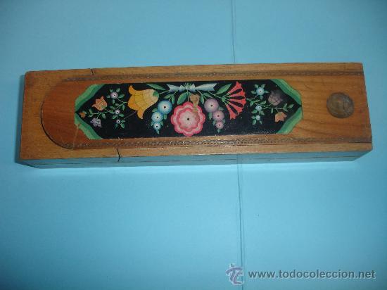Antiguo estuche escolar de madera comprar en - Juguetes antiguos de madera ...