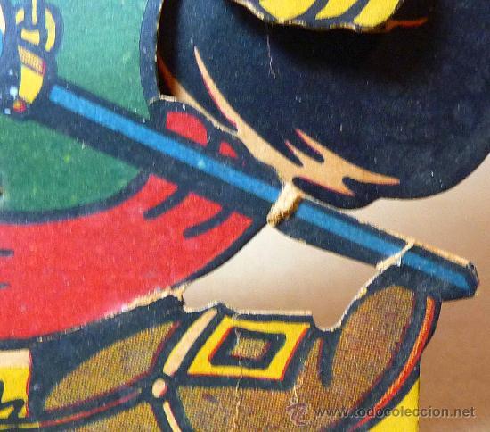 Juguetes antiguos y Juegos de colección: GATO CON BOTAS, PRIMITIVO JUGUETE DE CARTON TROQUELADO, CON MOVIMIENTO Y SONIDO, 1940s, ESPAÑA - Foto 10 - 22610352
