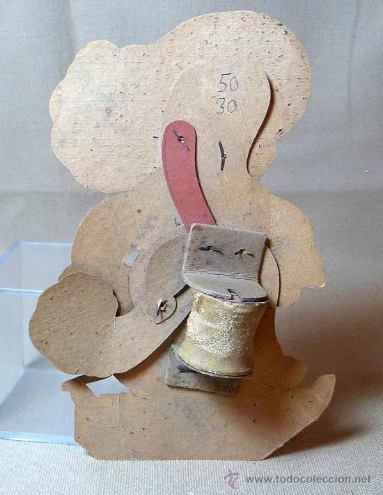 Juguetes antiguos y Juegos de colección: GATO CON BOTAS, PRIMITIVO JUGUETE DE CARTON TROQUELADO, CON MOVIMIENTO Y SONIDO, 1940s, ESPAÑA - Foto 8 - 22610352