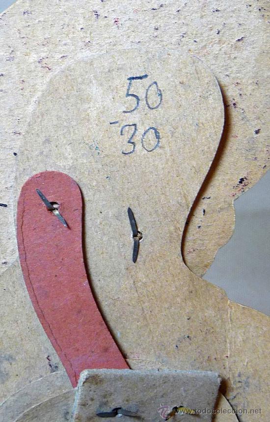 Juguetes antiguos y Juegos de colección: GATO CON BOTAS, PRIMITIVO JUGUETE DE CARTON TROQUELADO, CON MOVIMIENTO Y SONIDO, 1940s, ESPAÑA - Foto 6 - 22610352