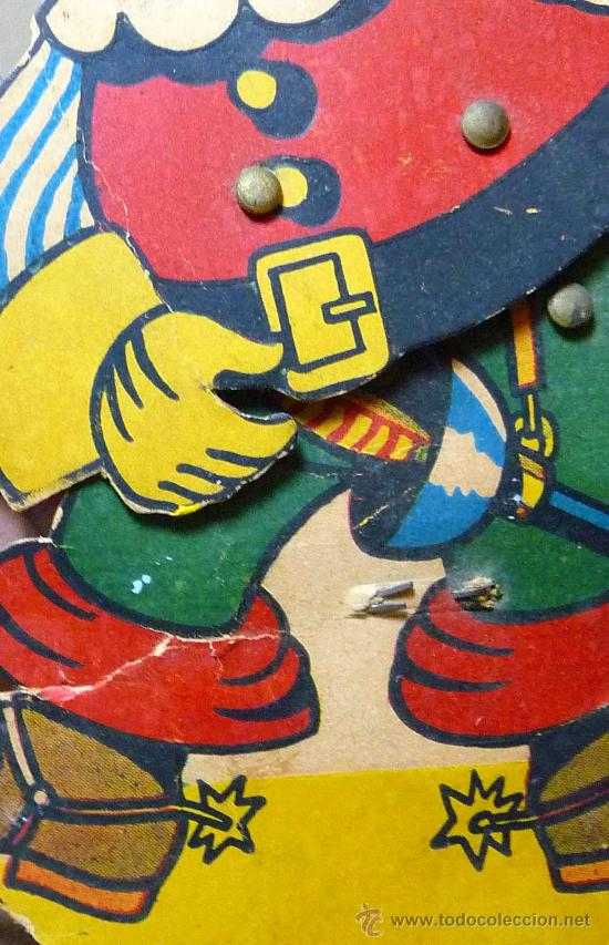 Juguetes antiguos y Juegos de colección: GATO CON BOTAS, PRIMITIVO JUGUETE DE CARTON TROQUELADO, CON MOVIMIENTO Y SONIDO, 1940s, ESPAÑA - Foto 4 - 22610352