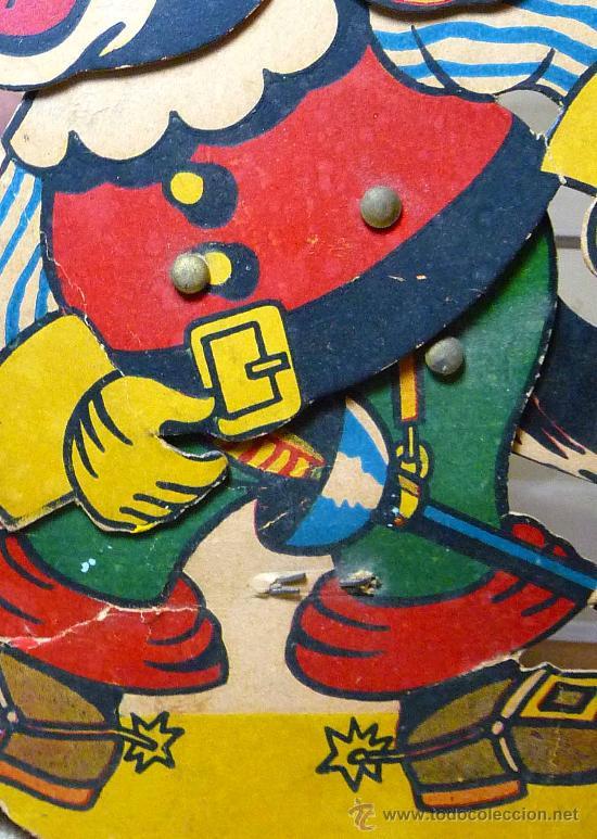 Juguetes antiguos y Juegos de colección: GATO CON BOTAS, PRIMITIVO JUGUETE DE CARTON TROQUELADO, CON MOVIMIENTO Y SONIDO, 1940s, ESPAÑA - Foto 3 - 22610352