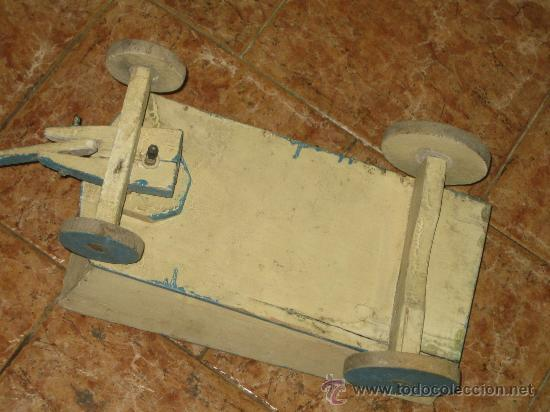 Carro Juguete De Madera Pintada Comprar En Todocoleccion 22719595