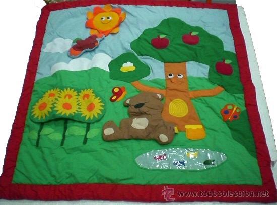 Manta alfombra actividades bebe con tactos comprar en todocoleccion 22737980 - Alfombra actividades bebe ...