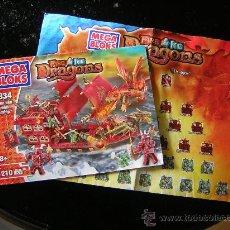 Juguetes antiguos y Juegos de colección: MEGA BLOCKS MEGABLOCKS DRAGONS, FIRE AND ICE, FYREN SEA PHOENIX BARCO. Lote 26701070