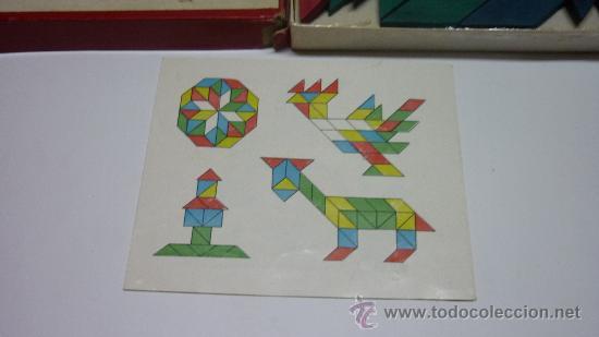 Juguetes antiguos y Juegos de colección: Antiguo juego de figuras geométricas ROMBO. Madera. Original años 1950s. Med. caja: 25 x 25 x 2 ctms - Foto 3 - 24481598