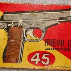 Juguetes antiguos y Juegos de colección: PISTOLA DE JUGUETE NUEVO COLT 45 CON 16 DISPAROS. AÑOS 60 DE CEFA. Lote 63363440