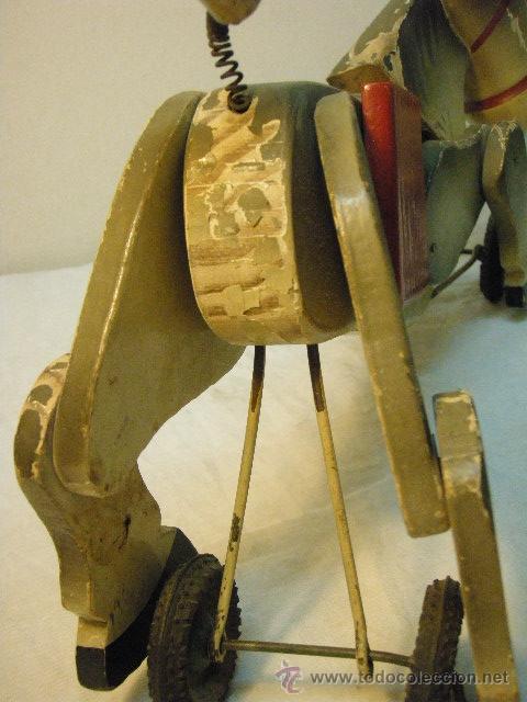 Juguetes antiguos y Juegos de colección: ARRASTRE CON BURRITO DE MADERA DE AÑOS 50 - Foto 4 - 26904197