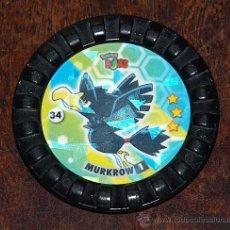 Juguetes antiguos y Juegos de colección: TAZO POKEMON ROKS Nº 34 MURKROW. Lote 27303395