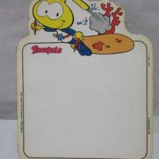 Juguetes antiguos y Juegos de colección: PIZARRA DE SNORKELS,AMARILLO,AÑO 1986. Lote 36282467
