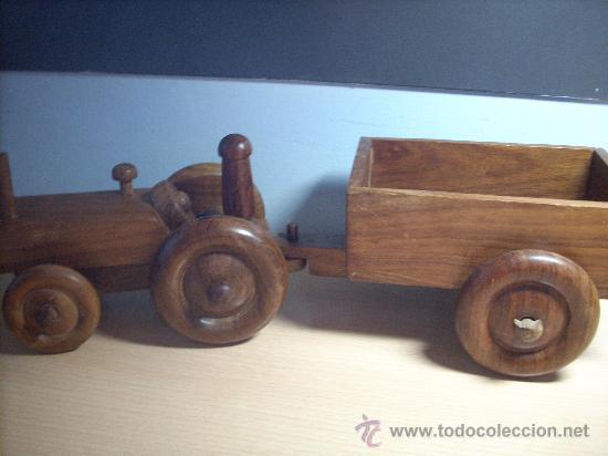 Tractor de madera de boj comprar en todocoleccion - Juguetes antiguos de madera ...