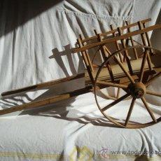Juguetes antiguos y Juegos de colección: CARRO CARRITO EN MADERA JUGUETE AÑOS 60. Lote 133531786