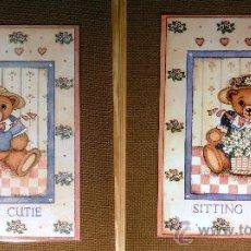 Juguetes antiguos y Juegos de colección: LOTE DE 2 POSTER PLASTIFICADOS - INFANTILES (40 X 50 CM.). Lote 30803783