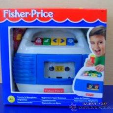 Juguetes antiguos y Juegos de colección: MAGNETOFÓN CON MICRO Y GRABADOR PARA CASSETTES.FISHER-MATTEL AÑO 1998.NUEVO EN CAJA.. Lote 31345949