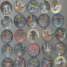 Juguetes antiguos y Juegos de colección: .LOTE 54 BLIX TAZOS STAR WARS CLONE WARS MATUTANO 35 DISTINTOS. Lote 32445453