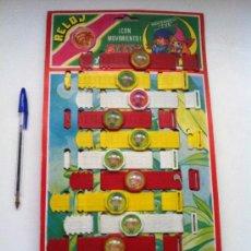 Brinquedos antigos e Jogos de coleção: ANTIGUO EXPOSITOR DE 12 RELOJES PULSERAS DE BELFY Y LILIBIT. KIOSKOS AÑOS 70/80.. Lote 195962148