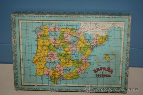 ANTIGUO ROMPECABEZAS EN CUBOS ESPAÑA Y PORTUGAL AÑOS 40 (Juguetes - Varios)