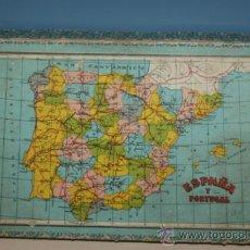 Juguetes antiguos y Juegos de colección: ANTIGUO ROMPECABEZAS EN CUBOS ESPAÑA Y PORTUGAL AÑOS 40. Lote 32787758