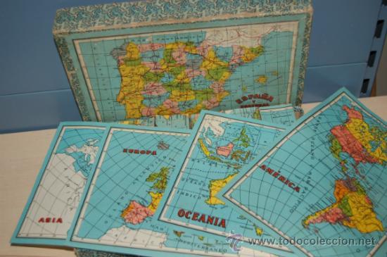 Juguetes antiguos y Juegos de colección: antiguo rompecabezas en cubos españa y portugal años 40 - Foto 5 - 32787758
