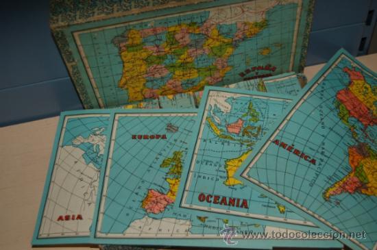 Juguetes antiguos y Juegos de colección: antiguo rompecabezas en cubos españa y portugal años 40 - Foto 4 - 32787758