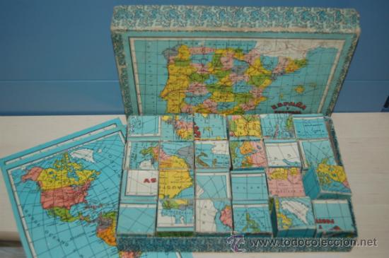 Juguetes antiguos y Juegos de colección: antiguo rompecabezas en cubos españa y portugal años 40 - Foto 3 - 32787758