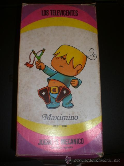 Juguetes antiguos y Juegos de colección: MUÑECO MAXIMINO. TELEVICENTES. DE FEBER. TVE. AÑOS 70. JUGUETE MECÁNICO. A ESTENAR. - Foto 2 - 33613345