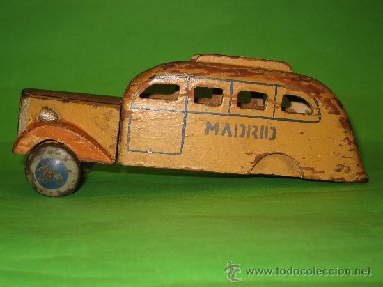 Fabricado Juguete De Autobus En Vendido Madera Pintada Venta 80mnwNOyv