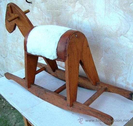 Juguetes antiguos y Juegos de colección: caballito de madera antiguo - Foto 3 - 34550328