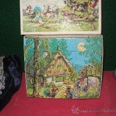 Juguetes antiguos y Juegos de colección: ROMPE CABEZAS DE CUBOS ,,ESTA NUEVO ,ES DE LOS 60 , DIBUJOS CUENTOS TRADICIONALES MIDE ,25X20. Lote 34589043