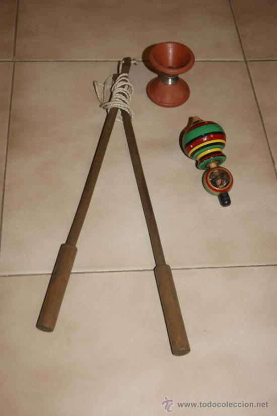 Lote de juguetes antiguos de madera diabolo y comprar - Juguetes antiguos de madera ...
