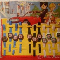 Juguetes antiguos y Juegos de colección: BLISTER DE RELOJES ANTIGUOS DE PLASTICO 11. Lote 34999159