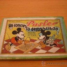 Juguetes antiguos y Juegos de colección: MICKEY MOUSE MINNIE PUSLER AÑOS 40 WALT DISNEY. Lote 35268184