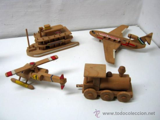 Lote 4 juguetes de madera goula medios de tra comprar - Juguetes antiguos de madera ...