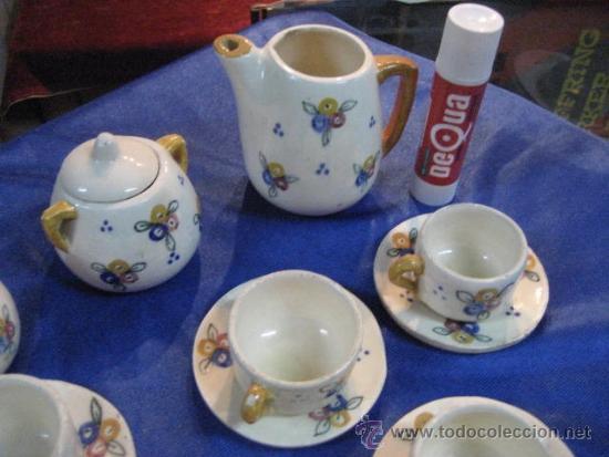 Juguetes antiguos y Juegos de colección: JUEGO DE CAFÉ DE CERAMICA DE JUGUETE - Foto 2 - 36075783