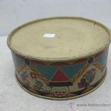 Juguetes antiguos y Juegos de colección: ALCOY - ANTIGUO TAMBOR METÁLICO. Lote 36087571