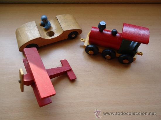 Lote De Juguetes Antiguos De Madera Tren Av Comprar En
