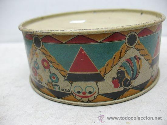 Juguetes antiguos y Juegos de colección: ALCOY - Antiguo tambor metálico - Foto 2 - 36087571
