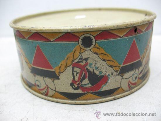 Juguetes antiguos y Juegos de colección: ALCOY - Antiguo tambor metálico - Foto 3 - 36087571