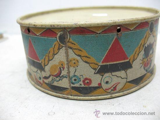 Juguetes antiguos y Juegos de colección: ALCOY - Antiguo tambor metálico - Foto 5 - 36087571