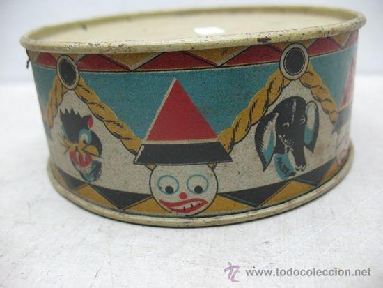 Juguetes antiguos y Juegos de colección: ALCOY - Antiguo tambor metálico - Foto 4 - 36087571