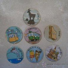 Juguetes antiguos y Juegos de colección: LOTE 7 TAZOS SUPER CAPS. TAZO. * IMARQ. Lote 36146243