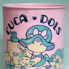 Juguetes antiguos y Juegos de colección: PAPELERA CUCA DOLS JUIPAL AÑOS 80 PLÁSTICO. Lote 39587040
